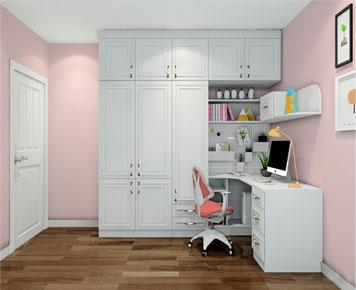 衣柜书桌柜组合图片