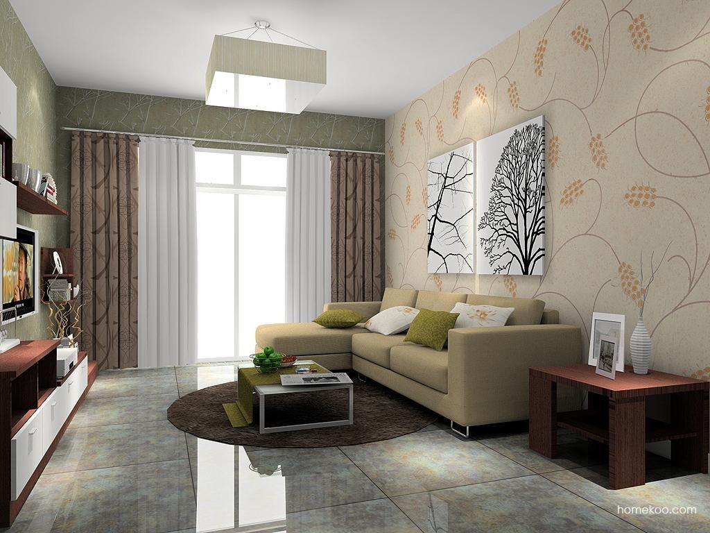 厅装修效果图_新实用主义家具效果图G7608_