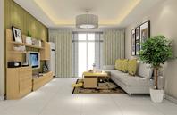 纯净色彩客厅吊顶效果图