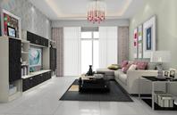 白色作底简约客厅装修效果图