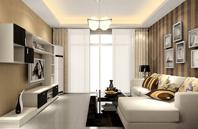 充满阳光气息的简洁客厅效果图