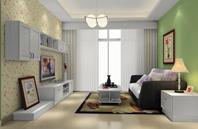 23平方米田园客厅装修效果图