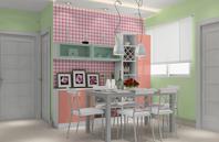 温馨浪漫主义餐厅家具效果图