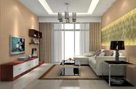 2012年内嵌式客厅吊顶设计图片