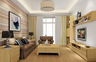 回归自然的客厅装修效果图