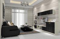 黑白经典装修客厅效果图