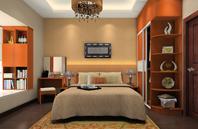 黄色元素装点的卧室效果图
