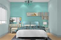 清雅蓝绿色卧室装修效果图