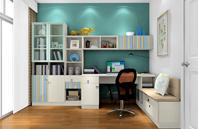 色彩艳丽无比的书房效果图