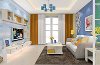 设计创意十足的现代风格客厅效果图