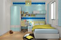 天空蓝的儿童房装修效果图