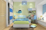 绿色自然的青少年房效果图