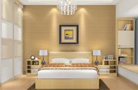 黄色复古典雅卧室效果图