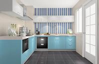 蓝色橱柜设计效果图