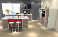 现代个性 白色 灰色 厨房