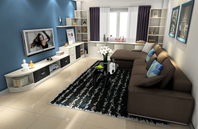 简约美观温馨舒适客厅