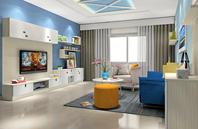 时尚清爽家居客厅设计图