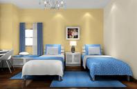 创意独特双人床装修居室 卧室