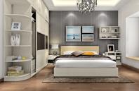85后黑白现代风格卧室装修效果图