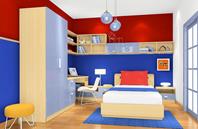 多色彩男孩子卧室效果图