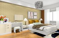 白色家具 明亮色彩打造温馨卧室