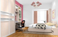 卧室style粉红主题卧室空间