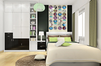 典雅卧室衣柜设计图片