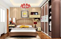 2款经典卧室双人床效果图