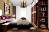 圆弧设计卧室衣效果图