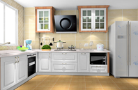 白色系现代设计风格唯美厨房效果图