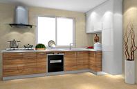 庄重气质设计欧式L型厨房