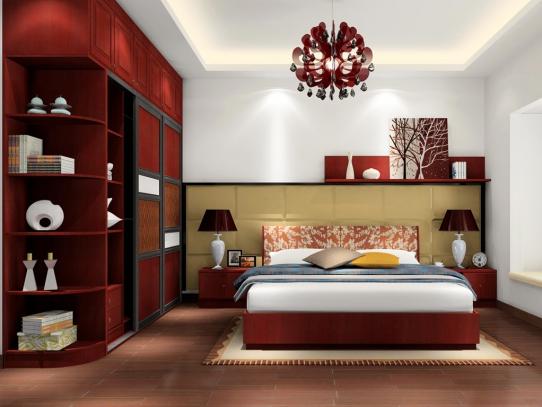 现代风典雅奢华卧室装修图片