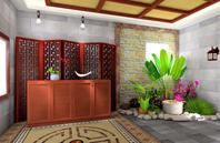 花园式现代古典客厅效果图