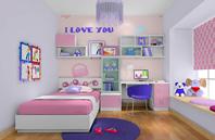 可爱女生卧室设计效果图