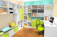 书房定制家具 横梁立柱空间设计