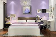 都市白领卧室的紫色神秘