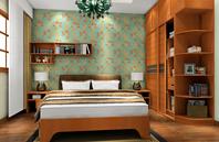 绿叶造型卧室效果图