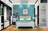 黑白色调现代风格卧室效果图