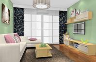 绿色简约风格客厅装修效果图片