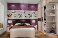 紫色浪漫美绚的卧房装修效果图