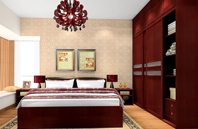 富贵精致取胜的简欧风格卧室效果图