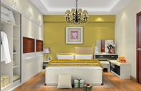 明黄、酷黑、炫白的卧室装修效果图