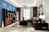 小清新小户型的客厅设计效果图