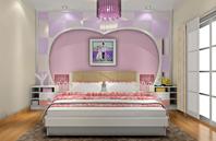 粉色温和柔媚的温馨卧室效果图