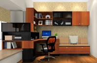 转角书桌设计书房装修效果图