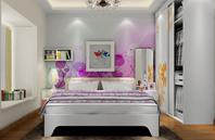 紫红色卧室装修效果图