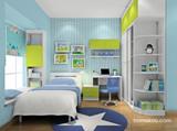 书房与卧室一体化-儿童房效果图
