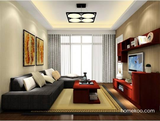 中式客厅吊顶效果图 突显中国韵味客厅