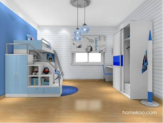 4款童话般儿童房装修效果图