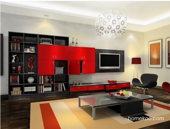 现代装修风格 2款新型客厅效果图
